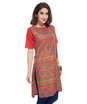 ENAH folk print border tunic