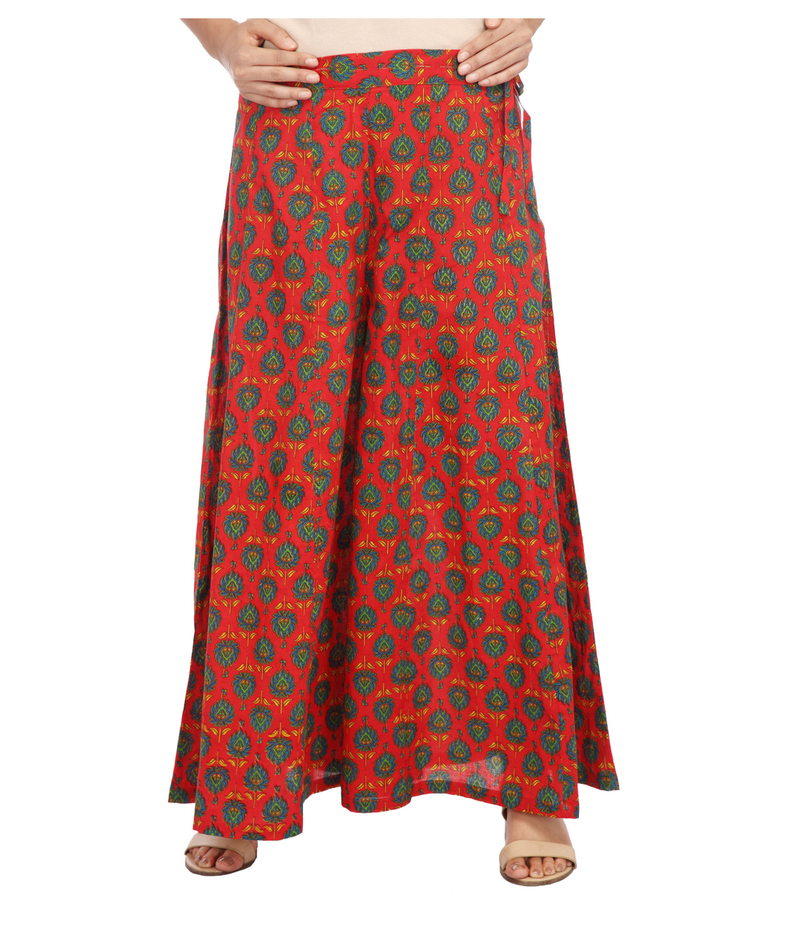 ENAH printed flared pallazzo pants