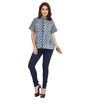 ENAH denim and print shirt