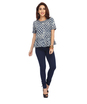 ENAH denim and print top