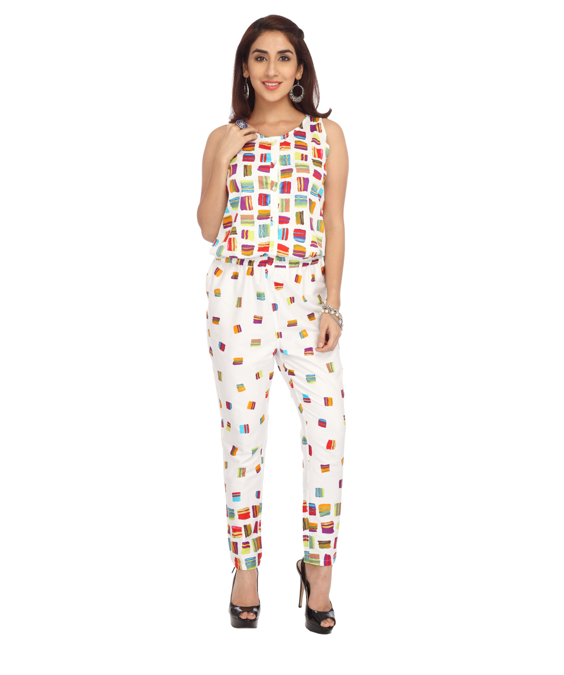 multicolored long jumpsuit