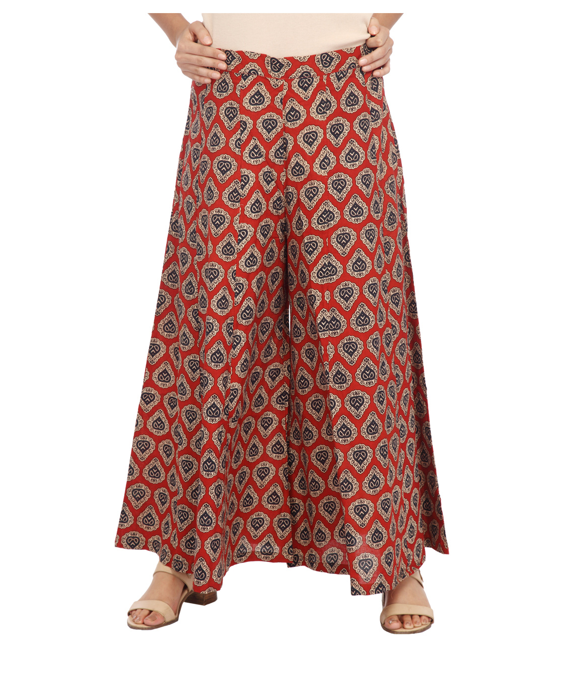 ENAH printed flared pallazzo pants
