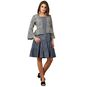denim dress with jacket