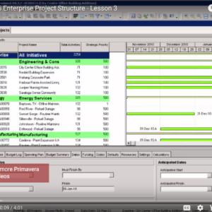 P6 Lesson 3: Intro To P6 Enterprise Project Structure