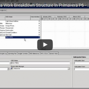 P6 Lesson 5: Build a Work Breakdown Structure in P6