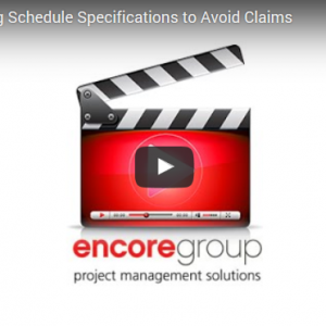 Managing Scheduling Specs to Avoid Claims