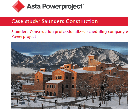 Asta Powerproject Case Study – Saunders Construction