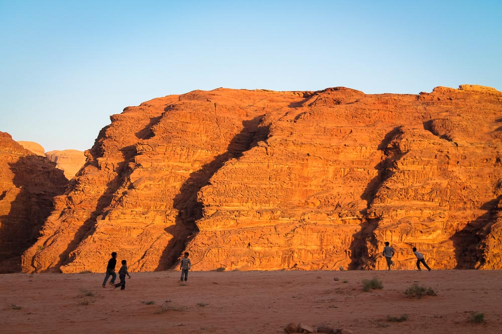 Kids, Football, Wadi Rum, Jordan.
