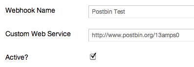 PostBin example
