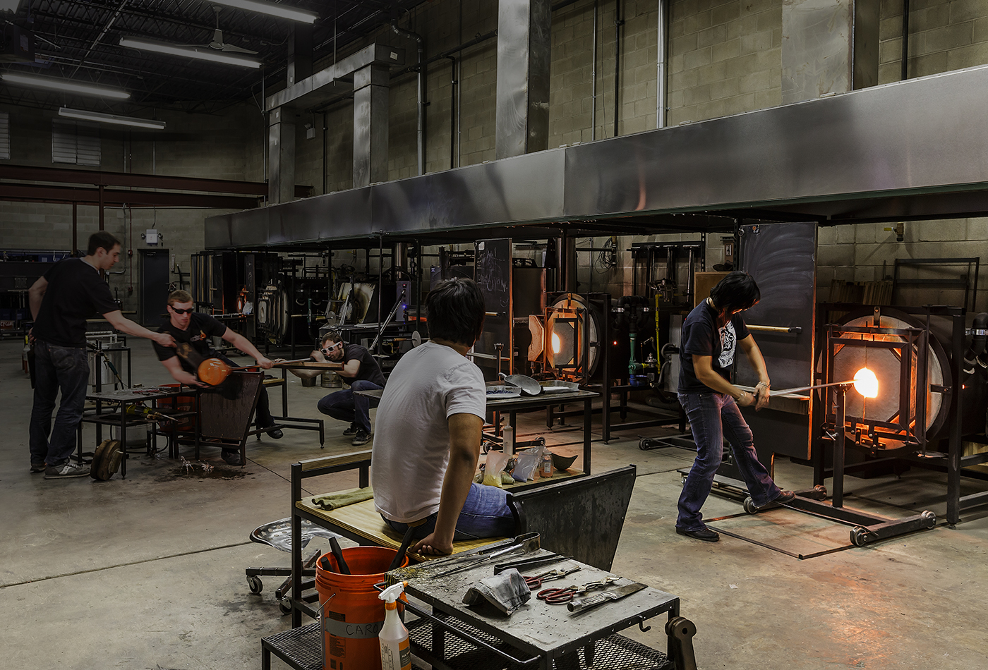 Ignite Features A 15000 Sf Studio With Two Furnaces Four Glass Warming Glory Holes That Reach 2200 Degrees Fahrenheit And As Well As In House Artists