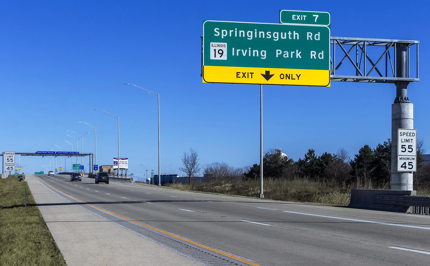 IllinoisTollwayElginOHareBypassLakeStree