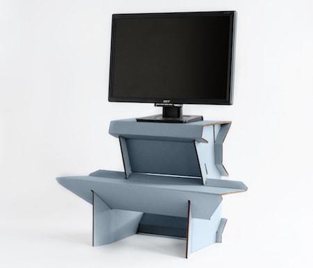 Spark Start Standing Now Desk Cardboard Perfect Starter Entry Level First Standing  Desk Twenty Dollars Cardboard