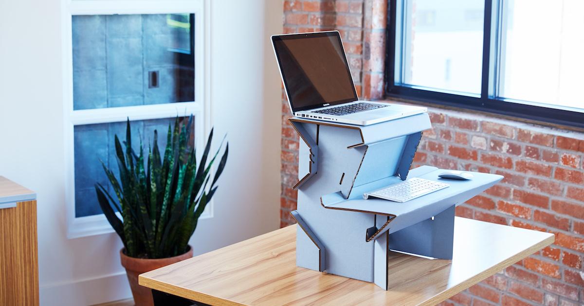"Standing Desk Ergonomics meet spark | the $25 ""start standing now!"" desk"