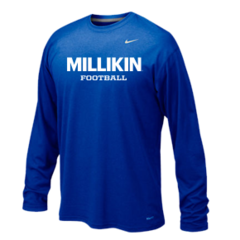 Millikin Football Nike Long Sleeve Poly Top