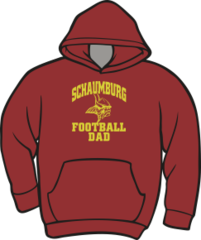Schaumburg Vikings Football Dad Hoodie