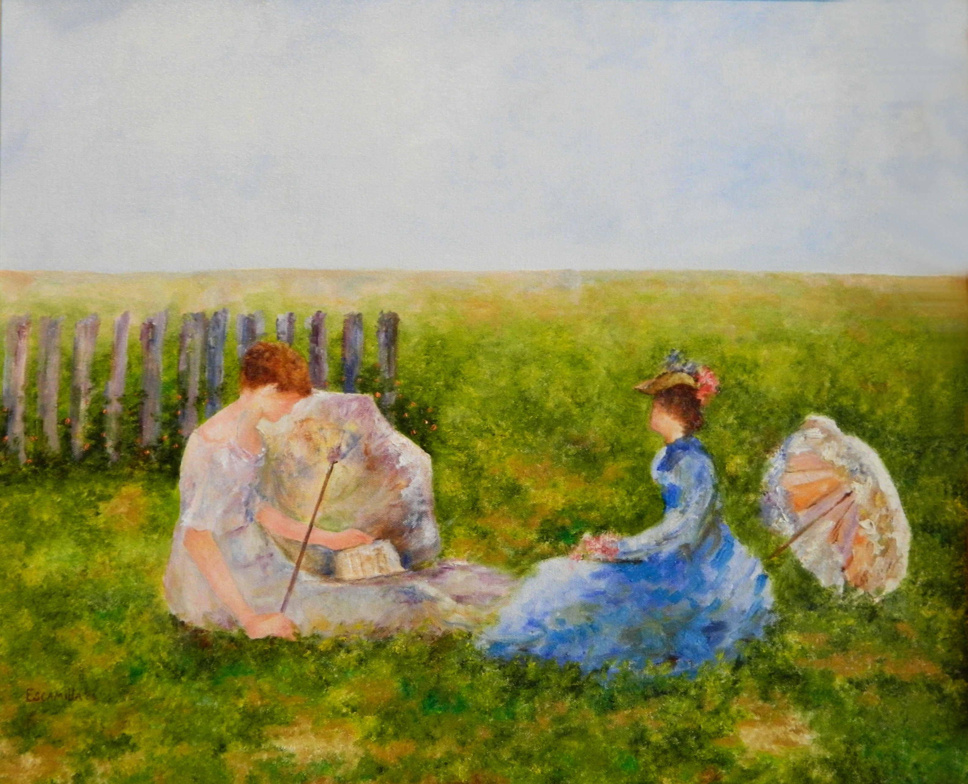 Ladies_reading_with_umbrellas
