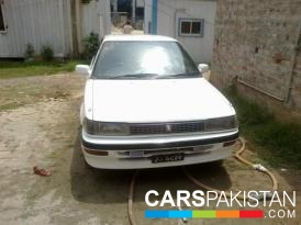 1988, White Toyota Corolla (Petrol / CNG ) For Sale, Rawalpindi, By: Adeeb  (Private Seller)