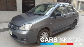 2008, Grey Metallic Suzuki Liana (Petrol / CNG ) For Sale, Faisalabad, By: Azhar  (Private Seller)