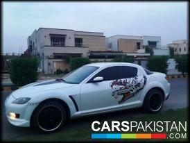 2003, White Mazda RX 8 (Petrol / CNG ) For Sale, Faisalabad, By: Arslan  (Private Seller)