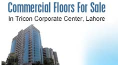 Commercial Floors For Sale in Tricon Corporate Center Lahore