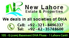 New Lahore Properties Left Side Banner