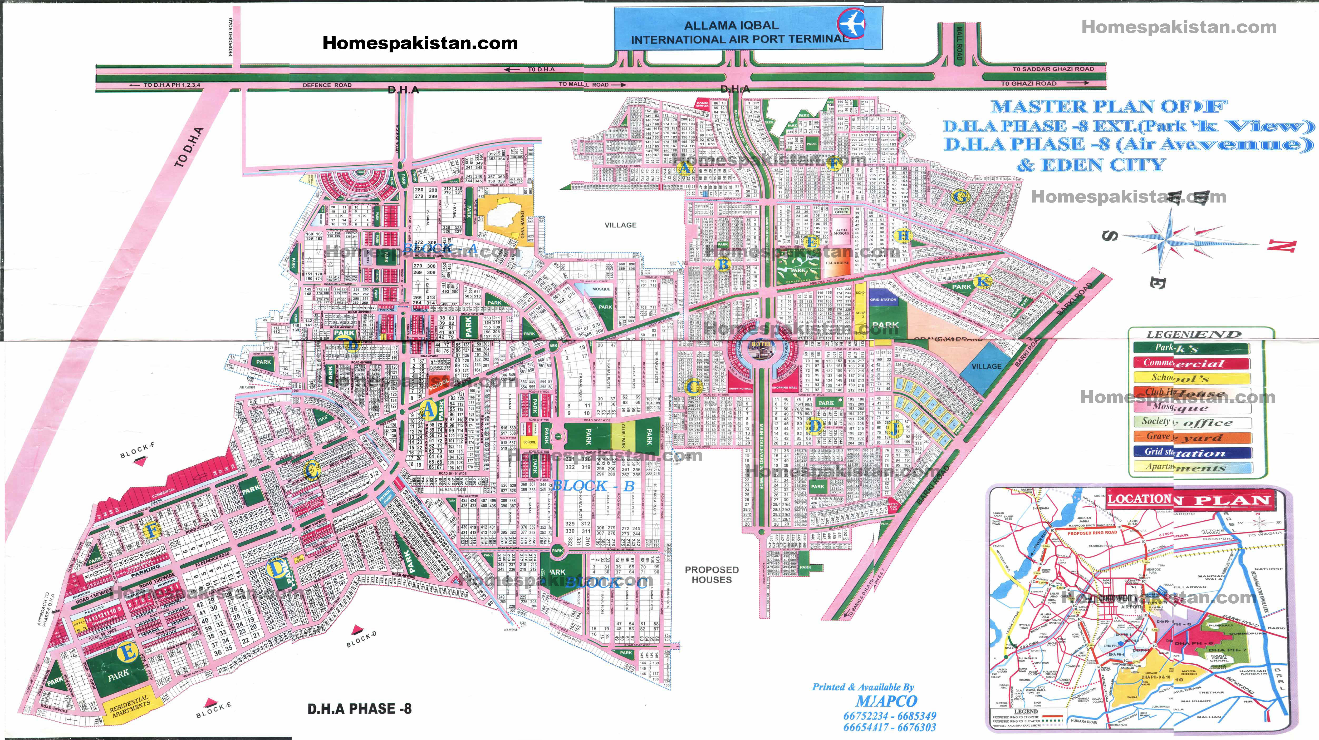 Dha Phase 8 Lahore Maps