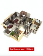 1176 Sq Feet 2 Bedrooms Best Location Apartment For Sale