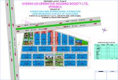 120 Sq Yards Best Location Residential Plots For Sale  At Ayesha Cooperative Housing Society