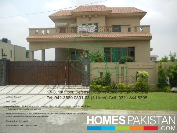 1 Kanal 8 Bedrooms House For Rent Air Avenue Lahore By Green