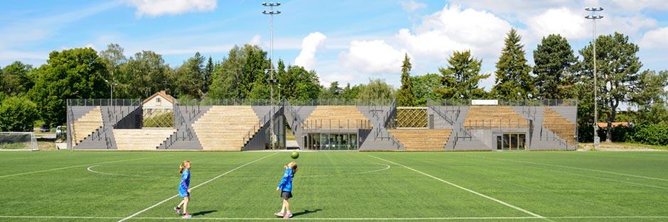 Small Football Stadium. Lidingö