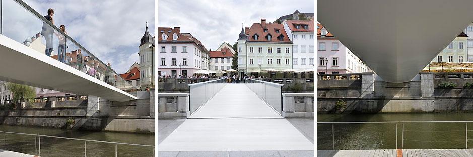 Footbridge Ribja Brv. Ljubljana, Slovenia