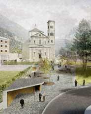 Valorizzazione della piazza della chiesa e dell'area ex enel. Grosio