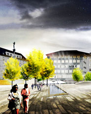 Concept design for the Basel city center
