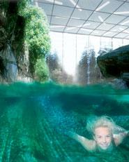 Aquapark in the Alps, Crans-Montana