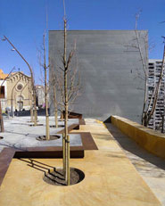 Renewal and extension of Montserrat square