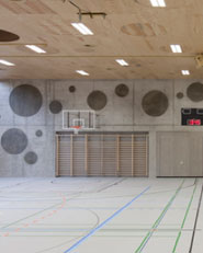 Extension of the multifunctional double sports halls in the Eichi Centre Niederglatt