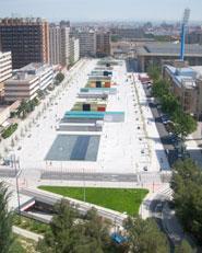 Espacio publico de la Romareda y aparcamiento subterraneo