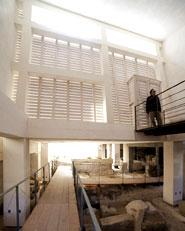 Padiglione di accesso agli scavi dell'Artemision di Siracusa