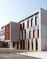 New building at Albert Einstein High School in Bagnols-sur-Cèze France