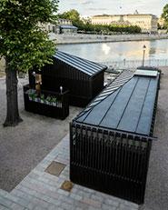 Stockholm stream pavillions