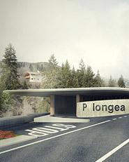 Parcheggio in località Longea. Moena