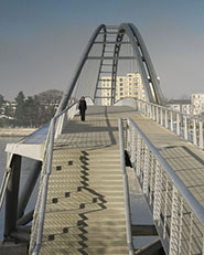 Footbridge over the Rhine