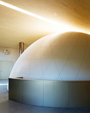 Ampliamento scuola elementare: Planetario in San Valentino in Campo nel Comune di Cornedo all'Isarco