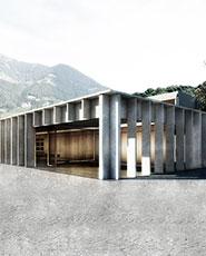 Mensa scolastica nel complesso scolastico di Via Karl-Wolf a Merano