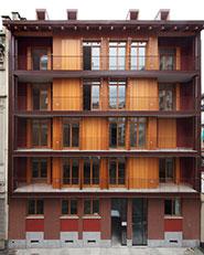 Edificio residenziale e sopraelevazione, via Saluzzo, Torino