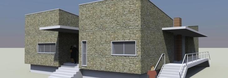 Antonio sefano cibelli casa a patio descrizione for Disegni di casa patio