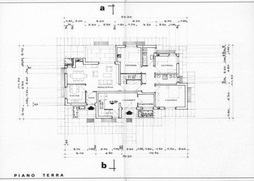 Giuseppe nardi progetto di casa bifamiliare for Progetto piano terra