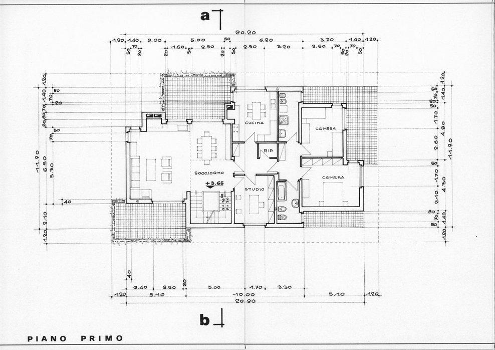 Giuseppe nardi progetto di casa bifamiliare image 2 of for Piccolo piano di pagamento della casa