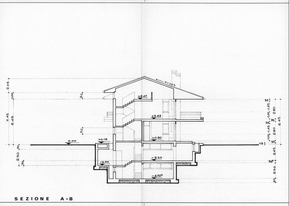 Giuseppe nardi progetto di casa bifamiliare image 3 of for Piani e progetti di casa padronale