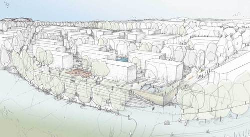 Förder Demmer Landschaftarchitekten, Frank Dieter Stucken — Espaces Publics du Quartier d' Habitation du Grünewald. Luxembourg